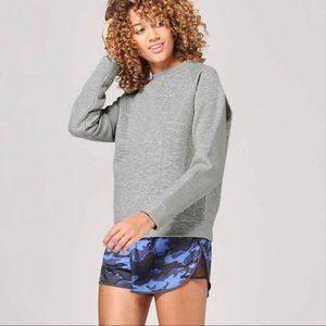 IVY PARK Quilted Grey Crewneck Pullover Sweater